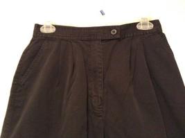 Black IZOD 100 Percent Cotton Casual Shorts Size 10 Partial Elastic Waistband image 3