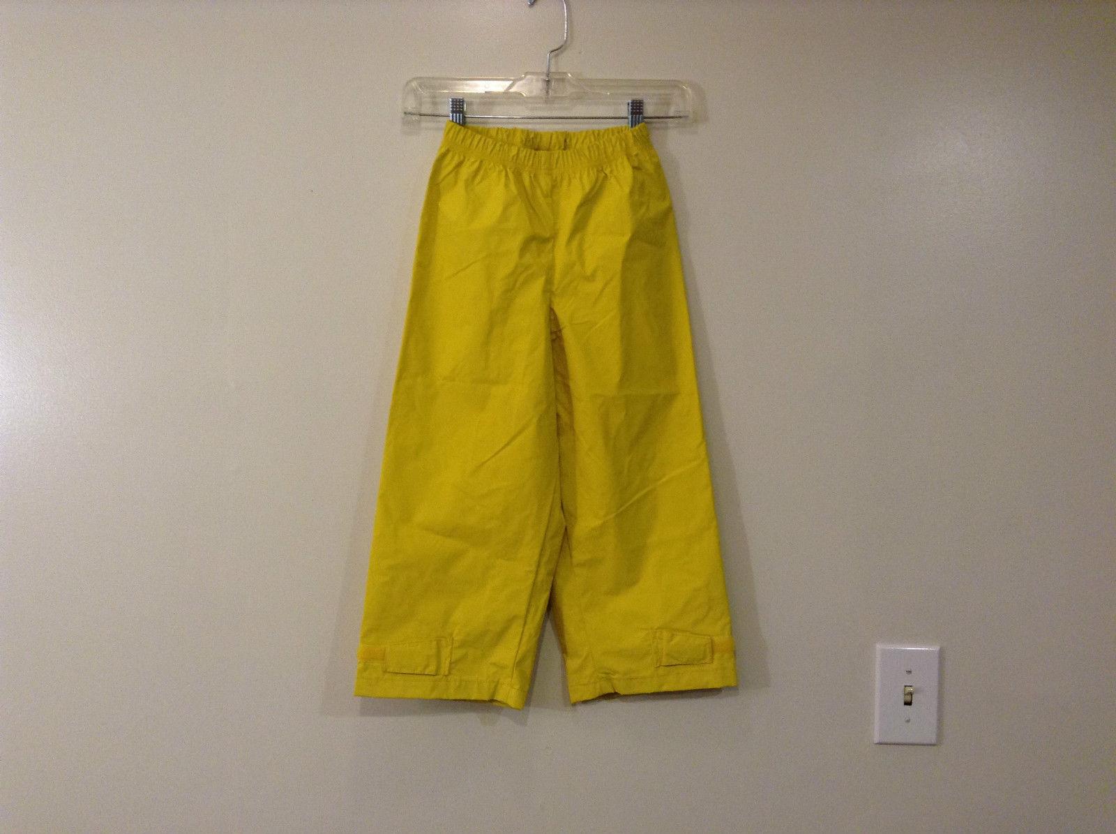 Bright Yellow L L Bean Kids Elastic Waist Pants Size XS 6 Adjustable Leg Width