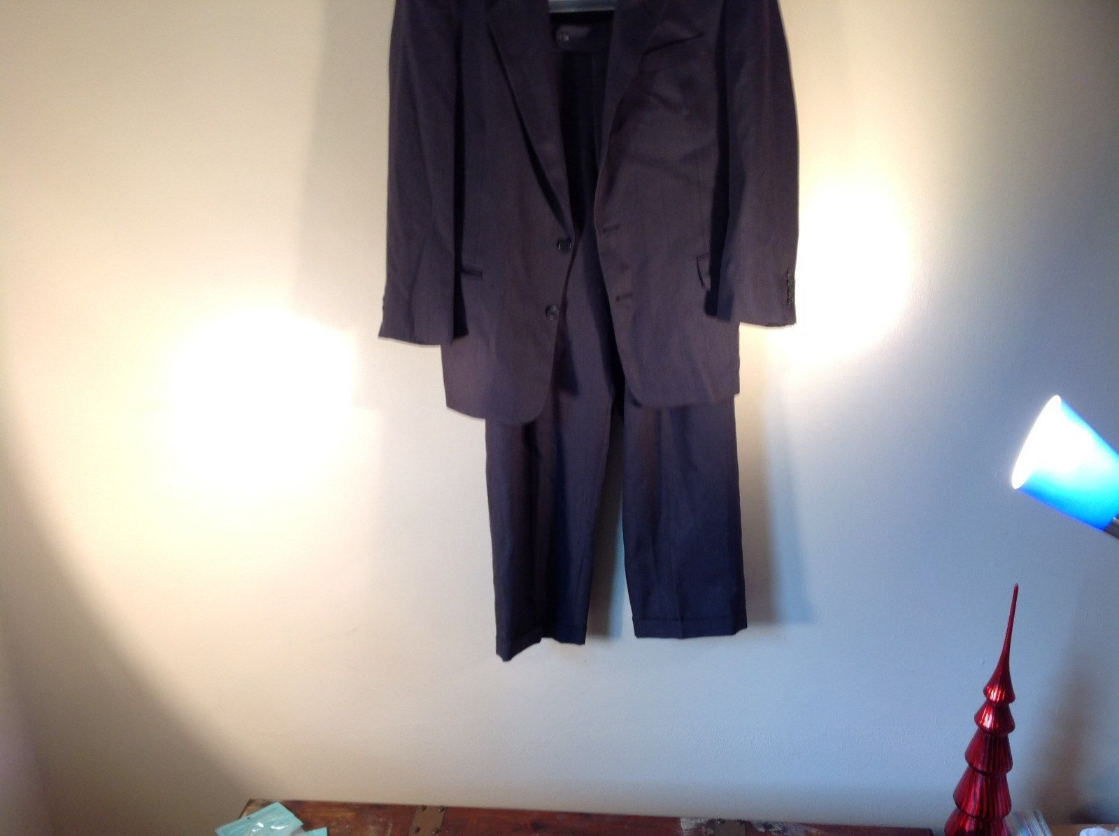 Britches of Georgetowne Dark Blue 2 Piece Wool Suit Excellent Condition USA