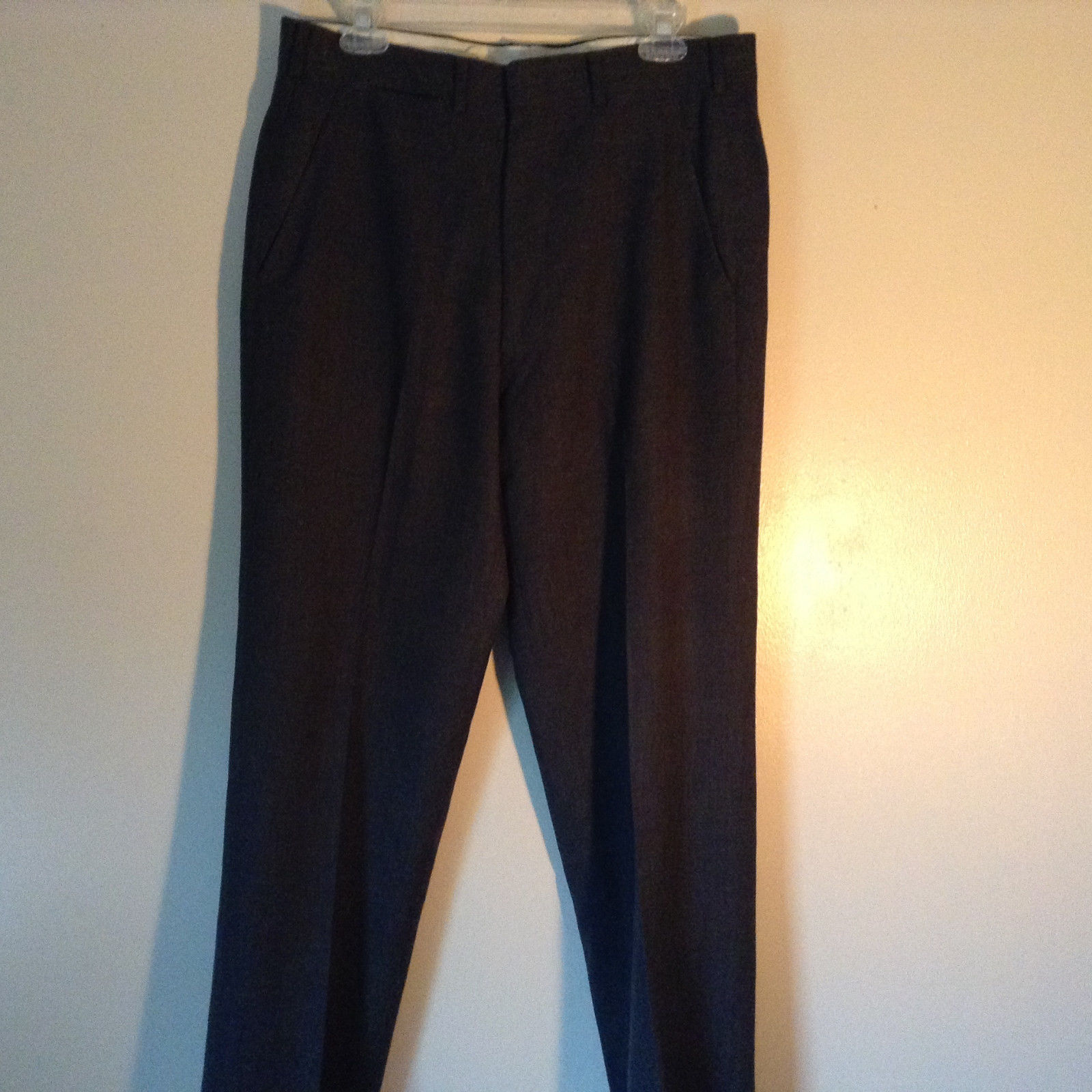 Brook Brothers  Markers Tailored Gray Dress Pants Imported Fabric No Size Tag