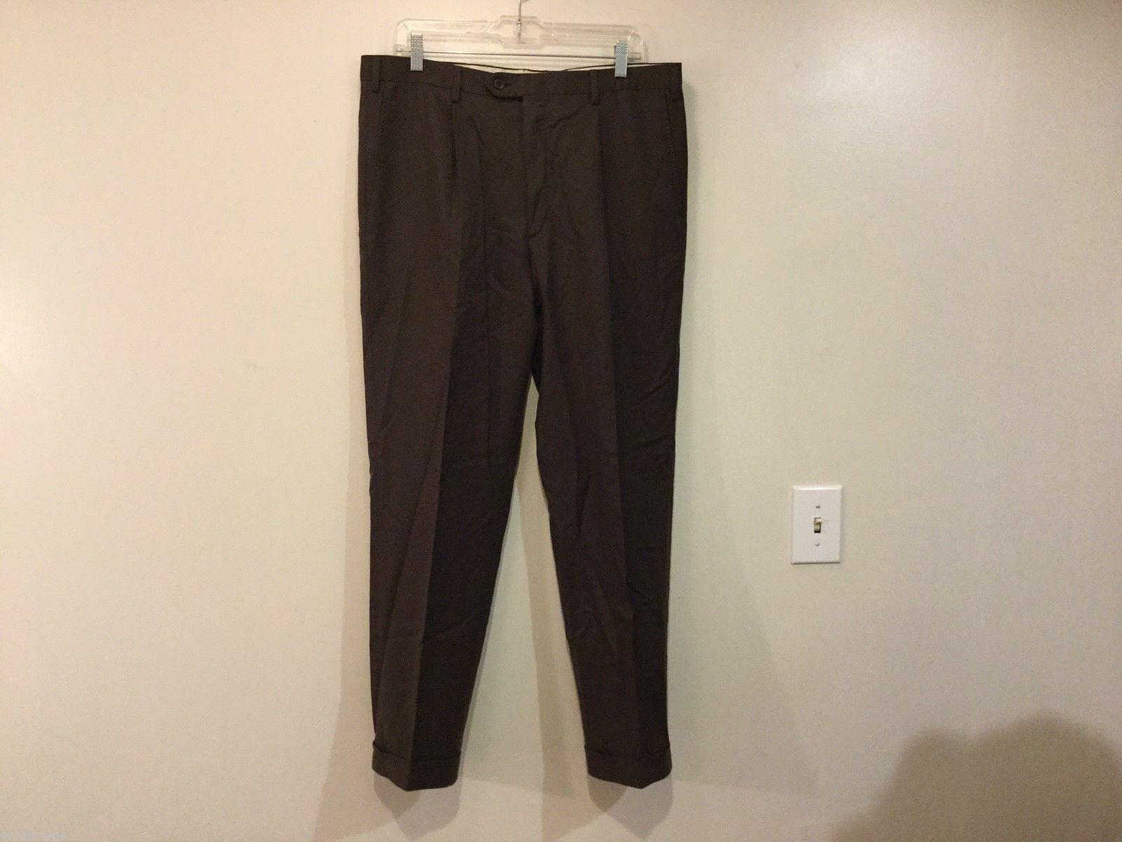 Brioni Mens Brown Dress Pants, Size 34
