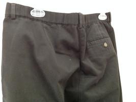 Black L L Bean Pleated Dress Work Pants 3 Pockets Button Zip Closure Size 14 image 5