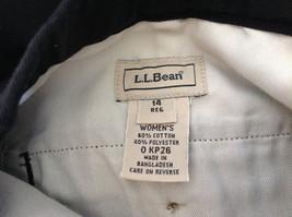 Black L L Bean Pleated Dress Work Pants 3 Pockets Button Zip Closure Size 14 image 7