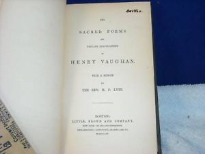 British Poets Collection Vaughan 1854 vintage books