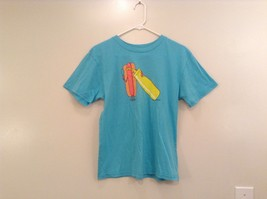 Brook Davis Mustardstache Size Large Short Sleeve Graphic T Shirt Light Blue