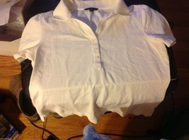 Brooks Brothers Women's White collared crew polo shirt