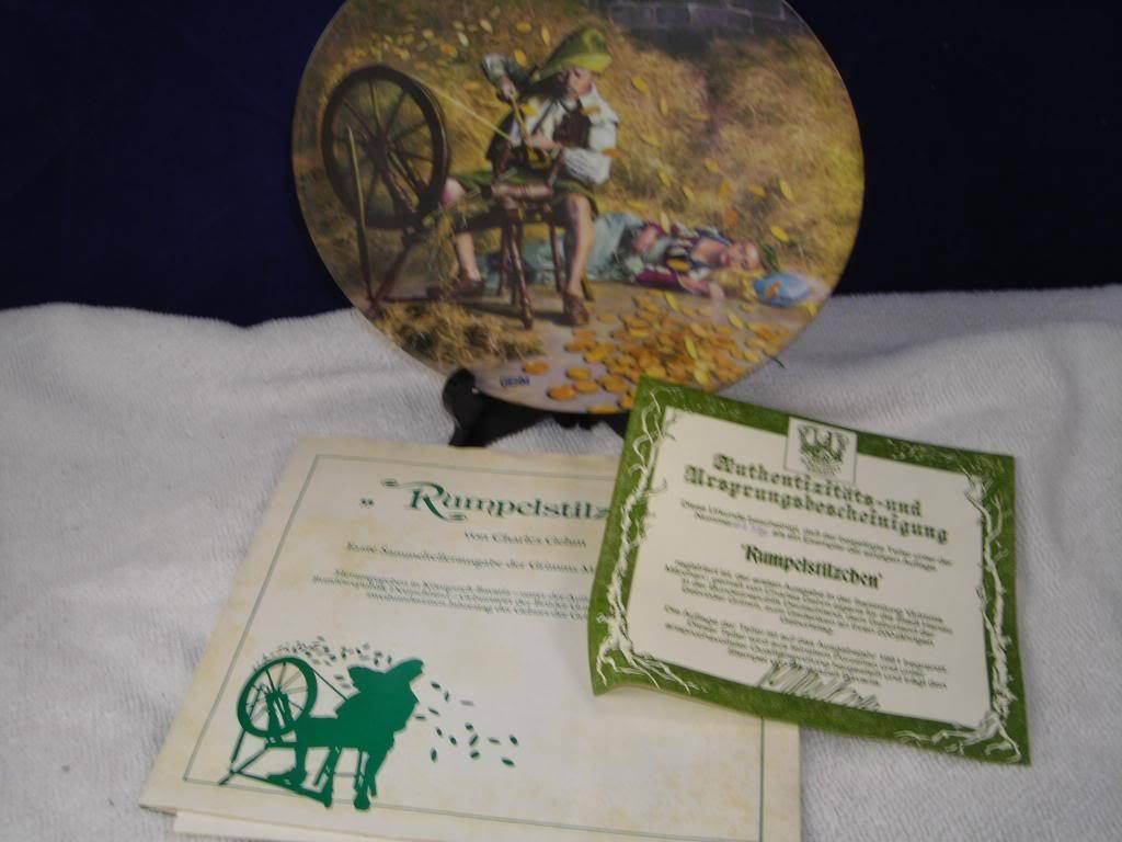 Bros. Grim 1981 Rumpelstilzchen German Collectors Plate