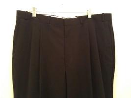 Black Pleated Front Dress Pants Merit Millennial Comfort Measurements Below image 3