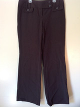 Brown Ann Taylor Loft Size 8 Pants Two Back Pockets Button and Zipper Closure