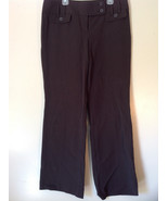 Brown Ann Taylor Loft Size 8 Pants Two Back Pockets Button and Zipper Cl... - $34.64