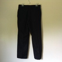 Black Pleated Dress Pants by Haggar No Size Tag Measurements Below image 5