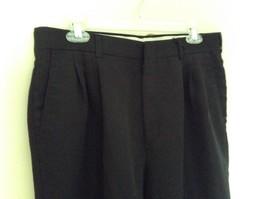Black Pleated Dress Pants by Haggar No Size Tag Measurements Below image 4