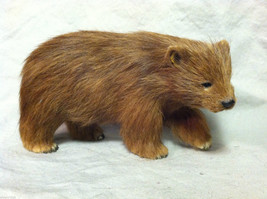 Brown Bear Animal Figurine - recycled rabbit fur