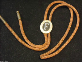 "Brown Bolo Tie with ""F"" on the clasp image 1"