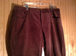 Brown Corduroy Pants by Talbots Size 18 W Front and Back Pockets Zipper Closure