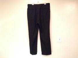 Black Pleated Front Dress Pants Stripes Down Sides  No Tags Measurements Below image 4