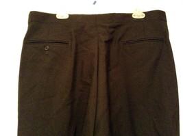 Black Pleated Front Dress Pants Stripes Down Sides  No Tags Measurements Below image 5