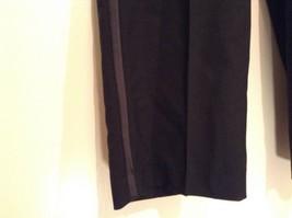 Black Pleated Front Dress Pants Stripes Down Sides  No Tags Measurements Below image 3