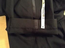 Black Pleated Front Dress Pants Stripes Down Sides  No Tags Measurements Below image 7