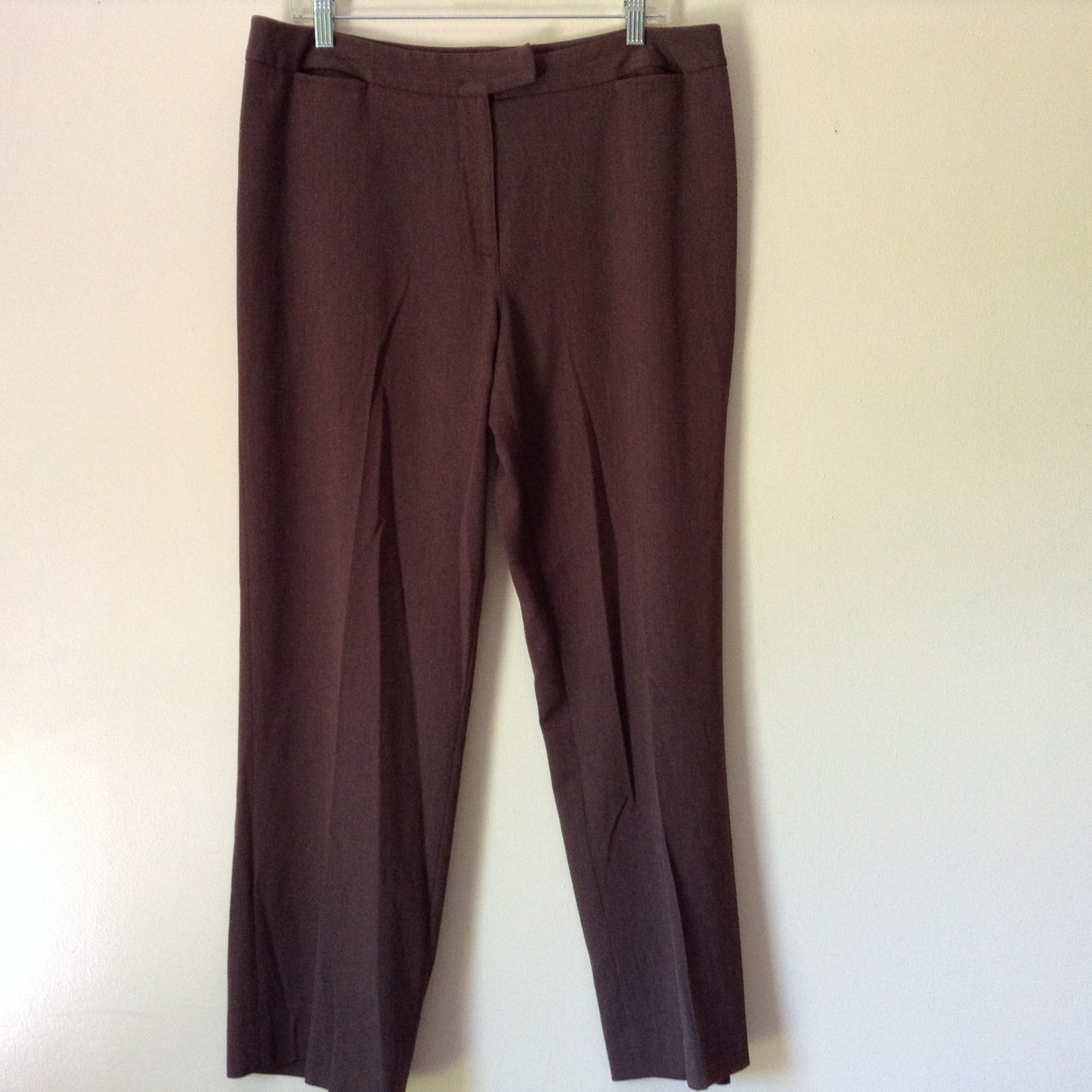 Brown Dress Pants by Pendleton Polyester Rayon Spandex Size 14