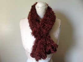 Brown Magic Fuzzy Circle Scarf Can Be Worn Multiple Ways NO TAGS