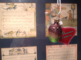Brown Green Acorn Hand Blown Glass Ornament Holiday Tree Old German Christmas