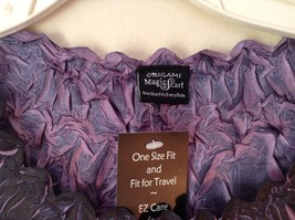 Black Purple Origami Magic Scarf Top One Size Fits All Stretches Tag Attached image 2