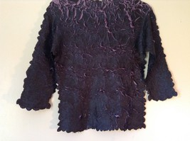 Black Purple Origami Magic Scarf Top One Size Fits All Stretches Tag Attached image 6