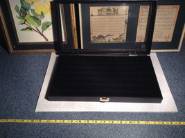 Black Ring Display Case with Foam Padding and Silver Latch for Closing image 2