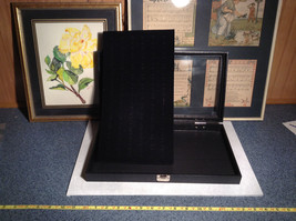 Black Ring Display Case with Foam Padding and Silver Latch for Closing image 4