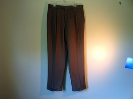 Brown Pleated Dress  Pants by Chaps No Size Tag Measurements Below