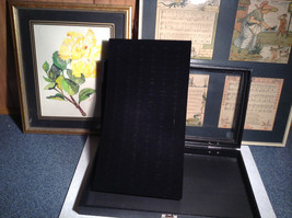 Black Ring Display Case with Foam Padding and Silver Latch for Closing image 3