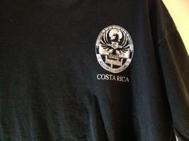 Black Short Sleeve Graphic T-shirt with White Emblem on Front Chest Size Medium image 3
