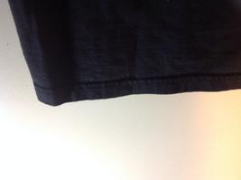 Black Short Sleeve Graphic T-shirt with White Emblem on Front Chest Size Medium image 6