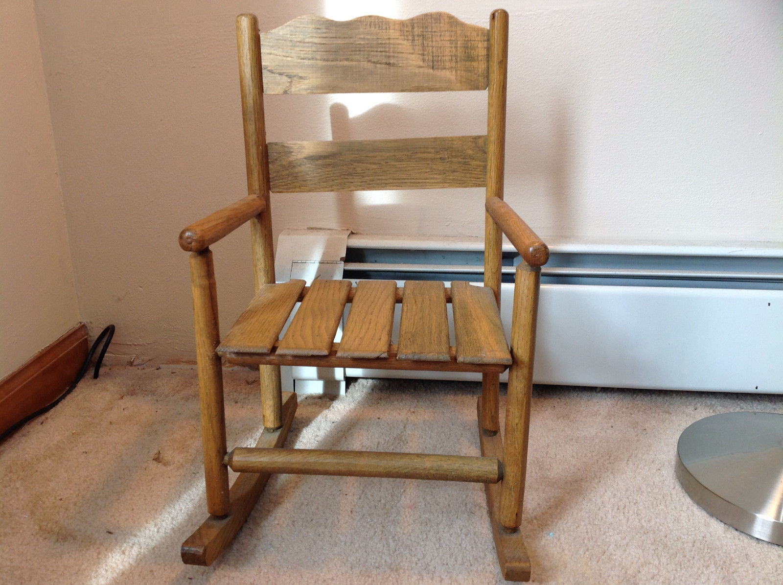 Brown Wooden Doll Rocking Chairs See Measurements in Description