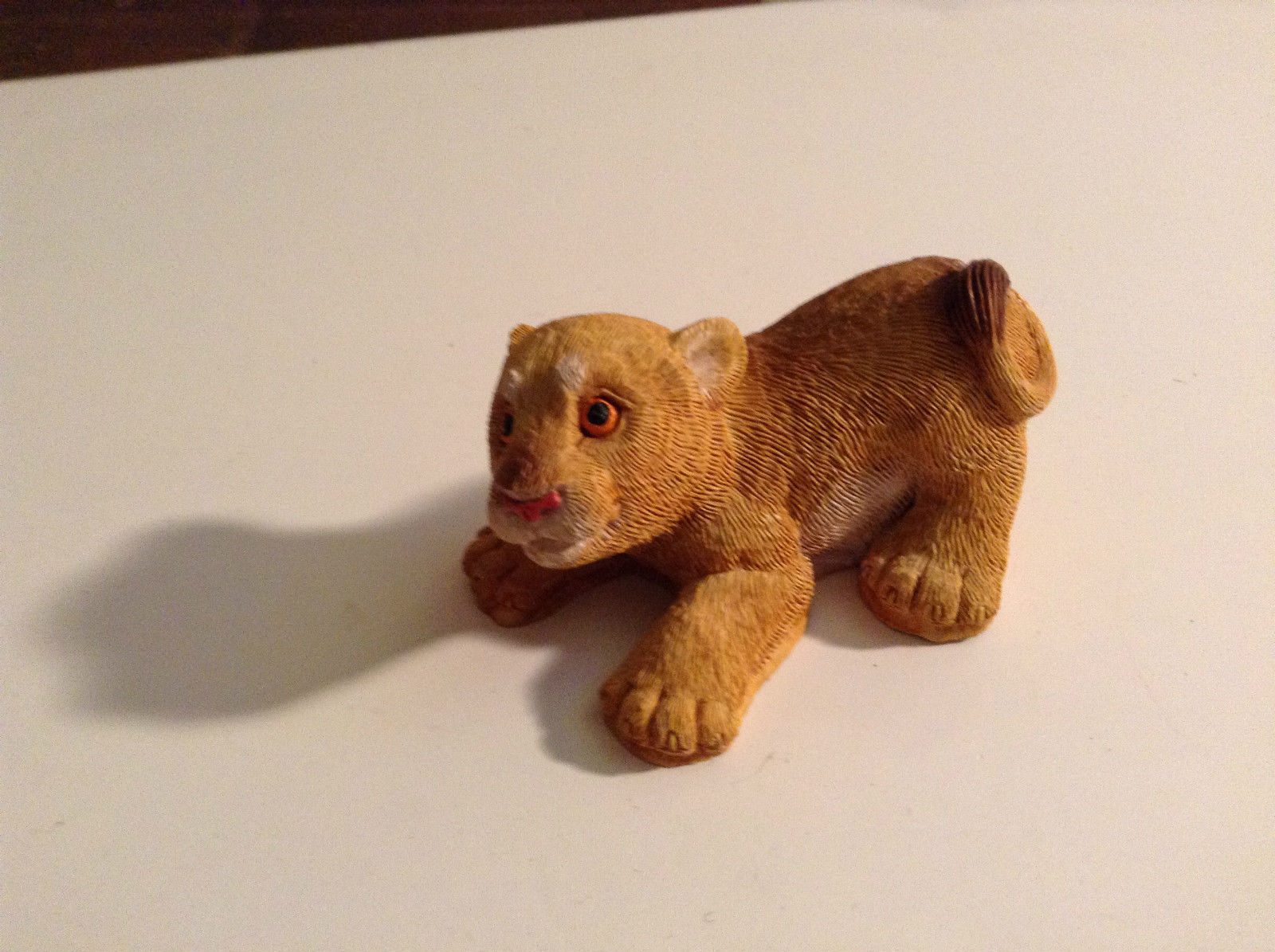 Brown Textured Baby Lion Figurine Display Decoration