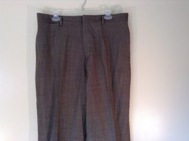 Brown Tight Weave Dress Pants J Crew Size 36 by 30 Wool Cashmere Blend