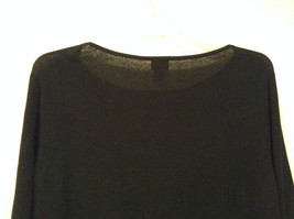 Black Scoop Neck Long Sleeve Pullover Top INC International Concepts Size 1X image 6