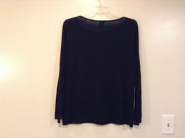 Black Scoop Neck Long Sleeve Pullover Top INC International Concepts Size 1X image 2