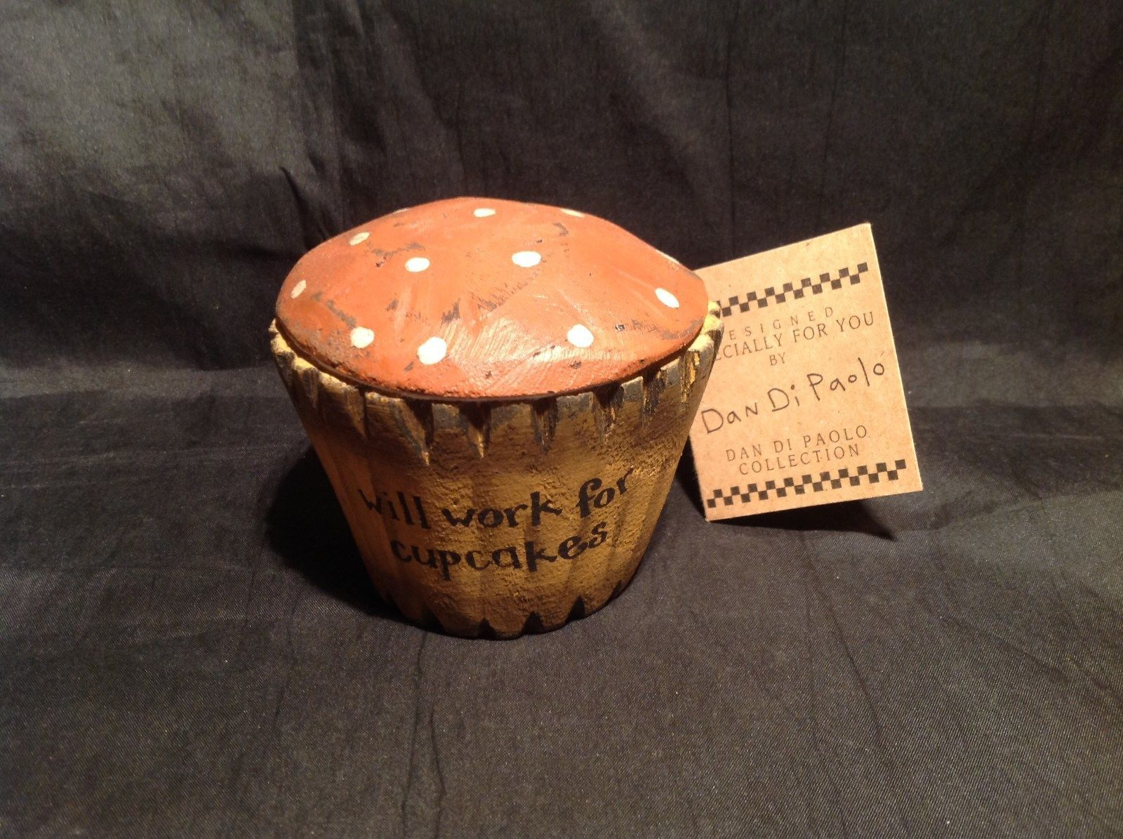 Brown Wooden Cupcake Decoration Will Work for Cupcakes