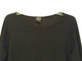 Black Scoop Neck Long Sleeve Pullover Top INC International Concepts Size 1X image 3