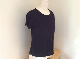 Black Sheer DKNY Short Sleeve Shirt DKNY Essentials Size Medium image 2