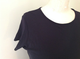 Black Sheer DKNY Short Sleeve Shirt DKNY Essentials Size Medium image 4
