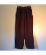 Cabin Creek Dark Green Pants 100 Percent Cotton Elastic Waistband Size 10 - $39.59