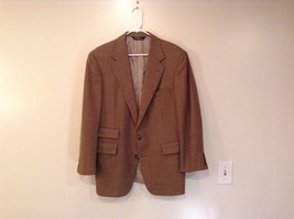 Brown Hounds Tooth Pattern Polo by Ralph Lauren Sport Coat Suit Jacket Size 40R