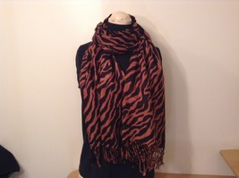 Brown and Black Zebra Print Scarf 100 Percent Acrylic image 1