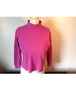 Cabin Creek Pink Long Sleeve Turtleneck 100 Percent Cotton Size Small - $34.64
