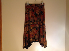 Brown Tan Black Paisley Design Skirt Coldwater Creek Made In Mexico Size PS