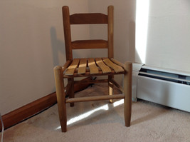 Brown Straight Leg Wooden Doll Chairs  Measurements in Description - $98.99