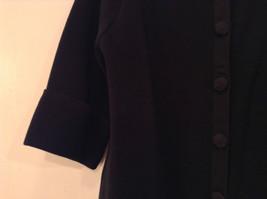 Black Size Large 100 Percent Cotton Button Up Front Short Blazer Top by Evie image 4